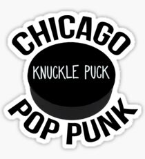Knuckle Puck - Hockey Puck Logo Sticker