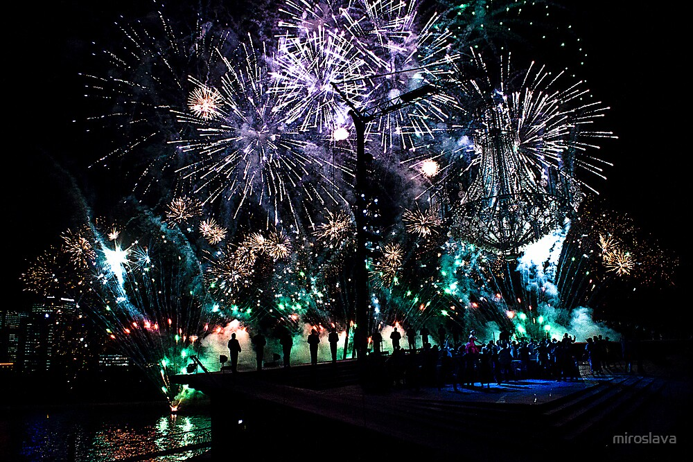 Fireworks on the Harbour by miroslava
