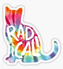 Radical Cat Tie Dye Sticker