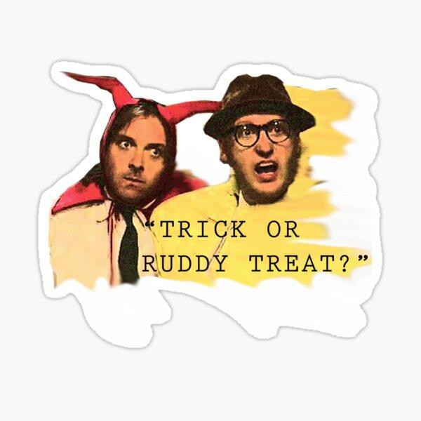 Trick or Ruddy Treat Sticker