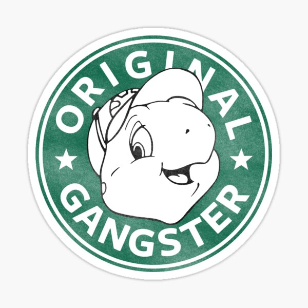 Franklin The Turtle - Starbucks Design Sticker