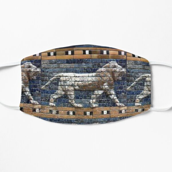BABYLON. Gates of Babylon. Detail of the Ishtar Gate reconstruction. Flat Mask