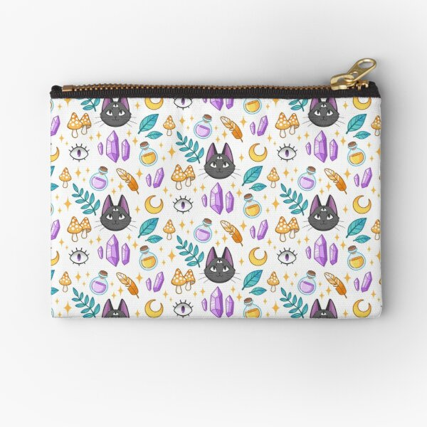 Witchy Cat Zipper Pouch