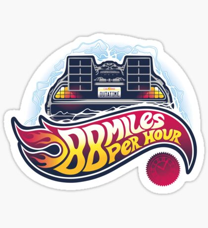 Hot Wheels to the Future - STICKER Sticker