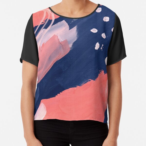Pink Abstraction Chiffon Top