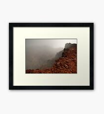 The Red Crater, Mt Ngauruhoe Framed Print