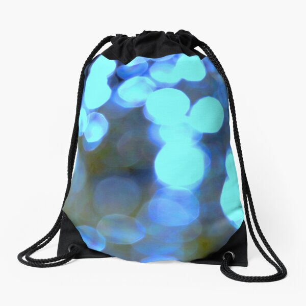Blue lights Drawstring Bag
