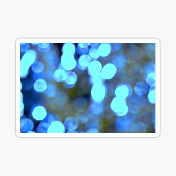 Blue lights Sticker