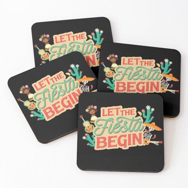 Let the fiesta begin! Mexico, sombrero, cactus Coasters (Set of 4)