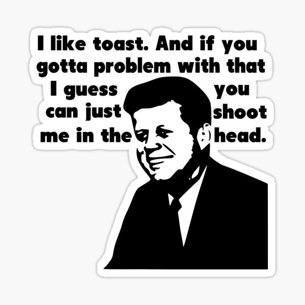 John F. Kennedy's Militant Toast Speech Sticker