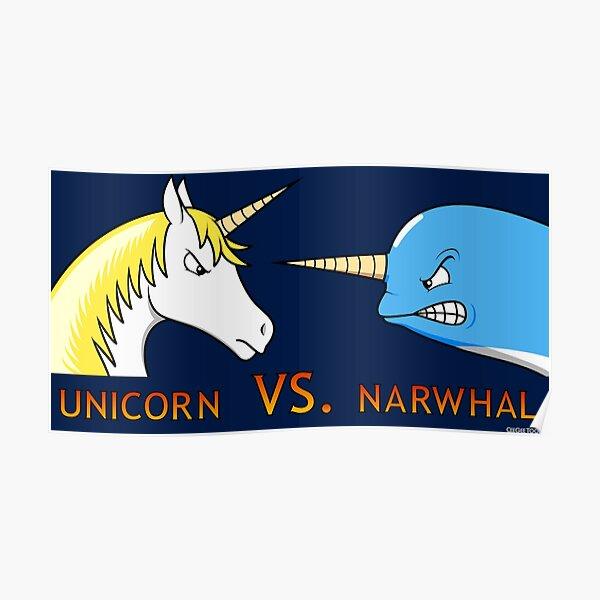 Unicorn Vs. Narwhal Poster