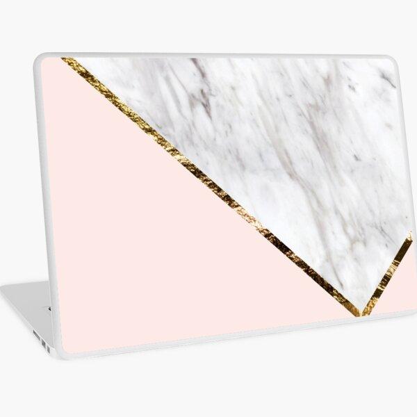 Vogue series - marble blush geo Laptop Skin