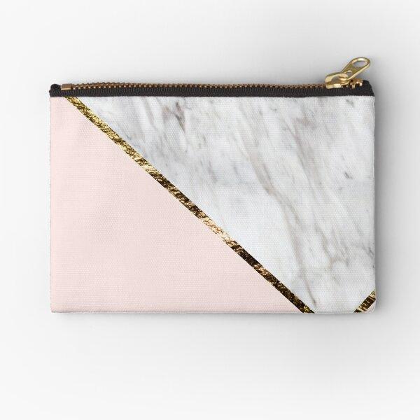 Vogue series - marble blush geo Zipper Pouch