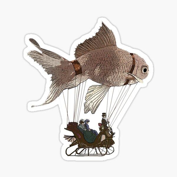Goldfish Dirigible Sticker Sticker