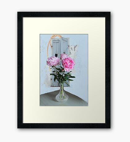 Pretty Peonies Framed Print