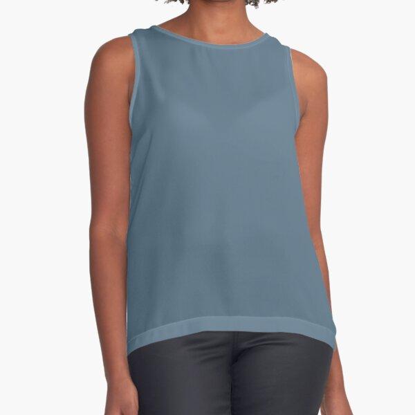 PANTONE 18-4217 TCX Bluestone. fashion palette, 2019/2020 NYFW Sleeveless Top