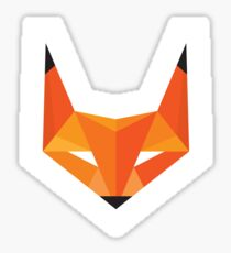 Fox Head - Abstract Geometric Illustration - Sticker Sticker