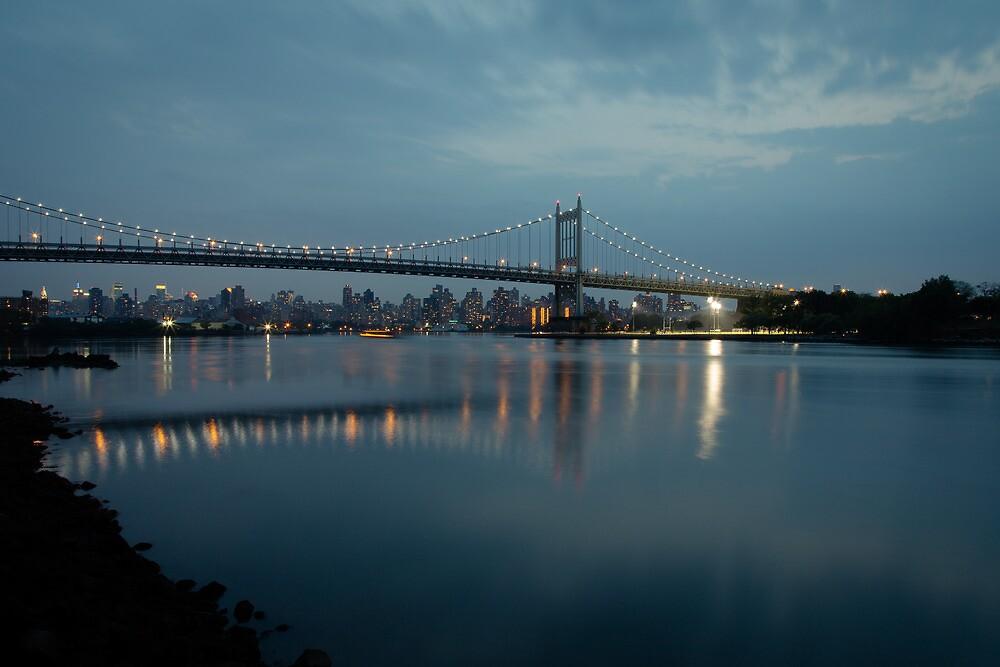 Triborough Bridge at Night by Joe Rivera