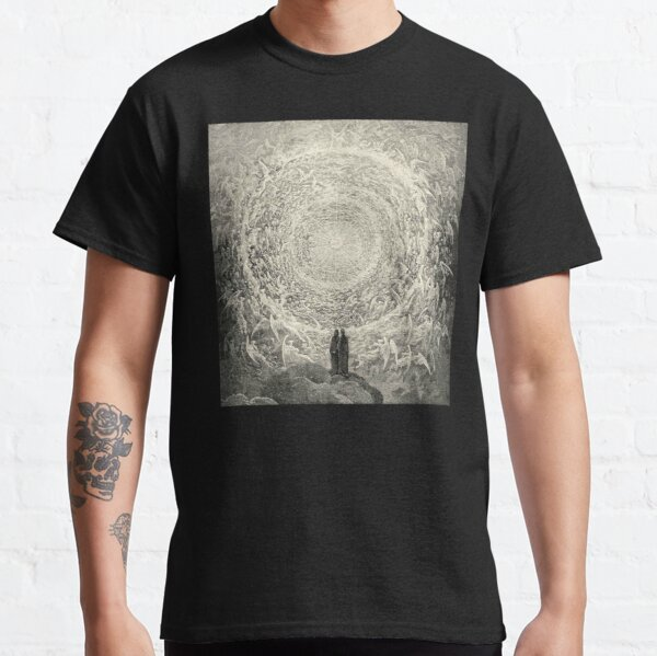 ANGELS AND DEMONS. Dante, Heaven, Heavenly, The Divine Comedy, Gustave Dore, Highest, Heaven. Classic T-Shirt