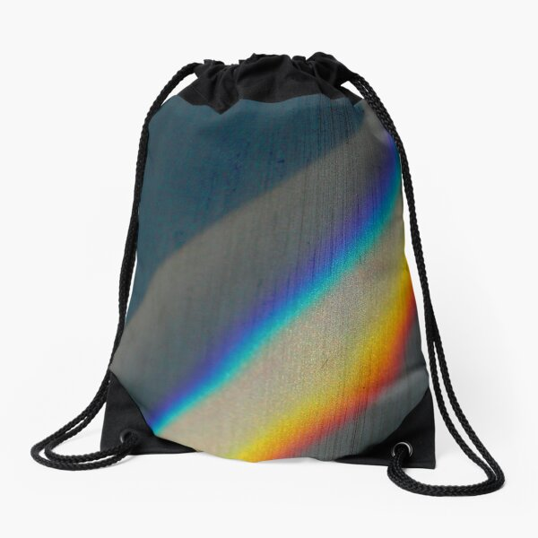 Spectrum rainbow Drawstring Bag