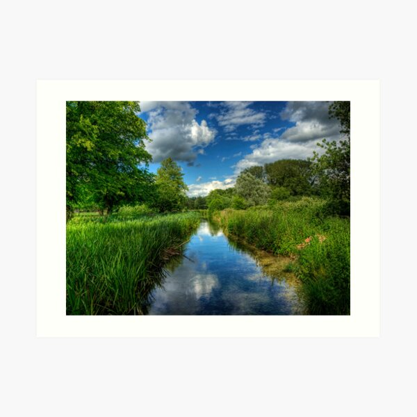 Itchen Reflections - Winchester Art Print