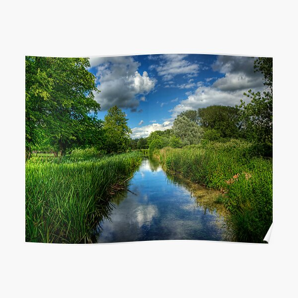 Itchen Reflections - Winchester Poster