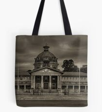 Colonial Elegance - Sepia (45 Exposure HDR Panorama) - Bathurst Court House c1880, Bathurst, NSW Australia - The HDR Experience Tote Bag