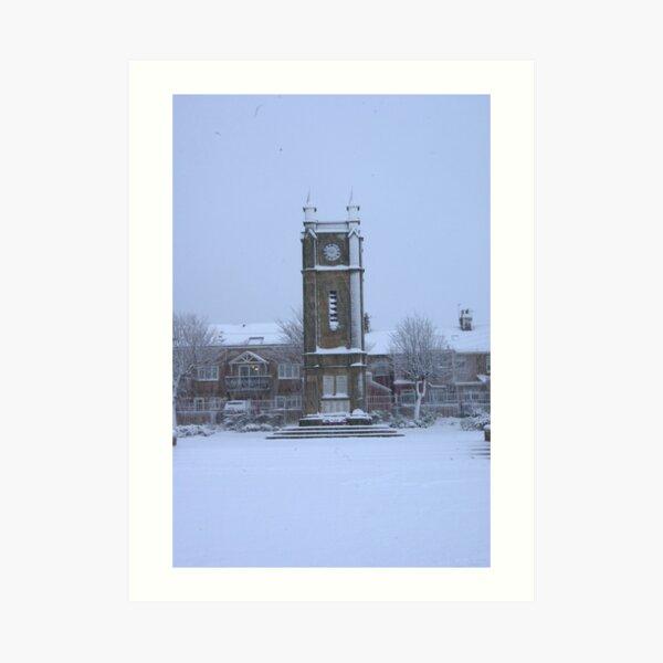 Amble town square clock tower Art Print