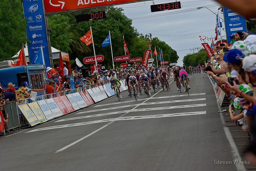 Finish of Stage 1 in Clare, Tour Down Under 2012 by Steven Weeks