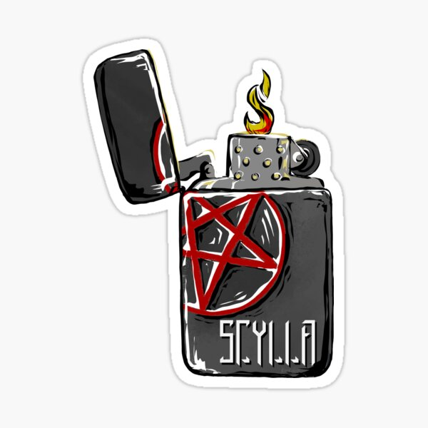 Scylla's lighter Sticker