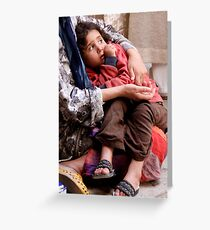 In Her Mother's Arms, Fes Morocco Greeting Card