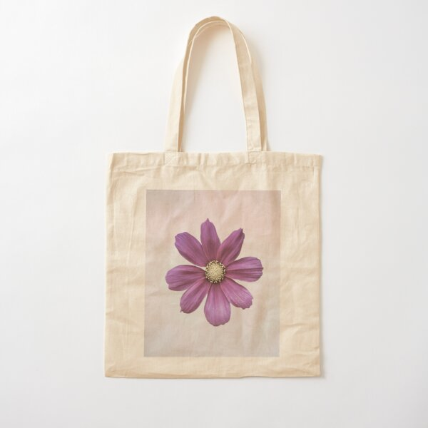 Purple Cosmos Flower Cotton Tote Bag