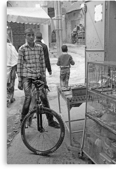 Boy On His Bike, Tinerhir Morocco by Debbie Pinard