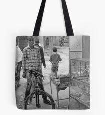 Boy On His Bike, Tinerhir Morocco Tote Bag