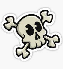 Toon Skull- White Version Sticker