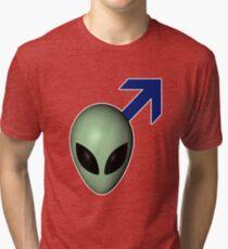 male alien Tri-blend T-Shirt