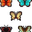 Mini Pixel Butterflies - Set of 5 by pixelatedcowboy