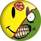 Zombie Happy Face by MrPeterRossiter