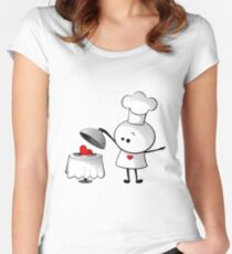 Cute Chef Women's Fitted Scoop T-Shirt