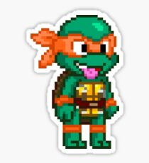 Michelangelo is a Party Dude Sticker