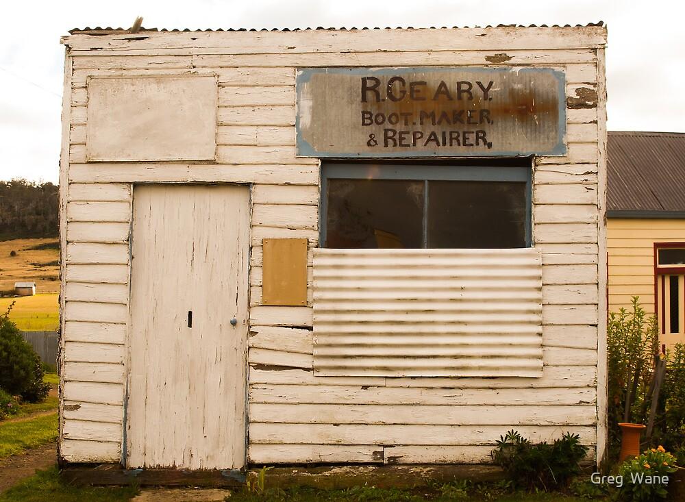 Boot Repair Shop, Oatlands by Greg  Wane