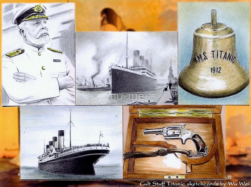 Titanic sketchcards by wu-wei