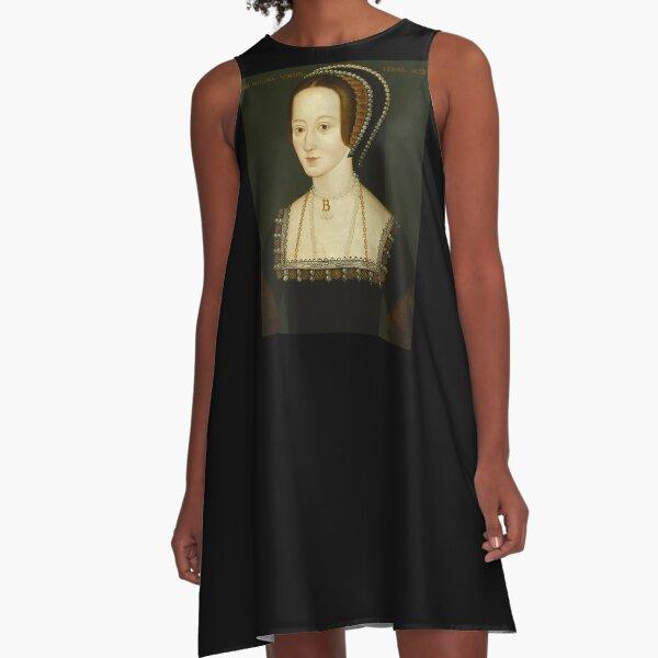 Wives of King Henry VIII. Anne Boleyn. A-Line Dress
