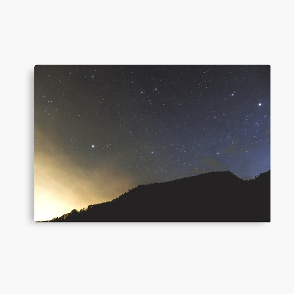 Light and Stars | Nature and Landscape Photography Canvas Print