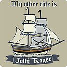 My other ride is the Jolly Roger sticker by Sarah  Mac Illustration