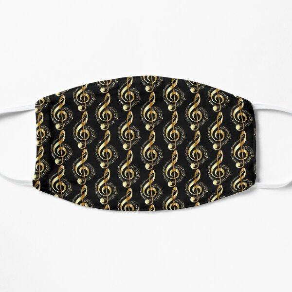 Golden Musical Note Flat Mask