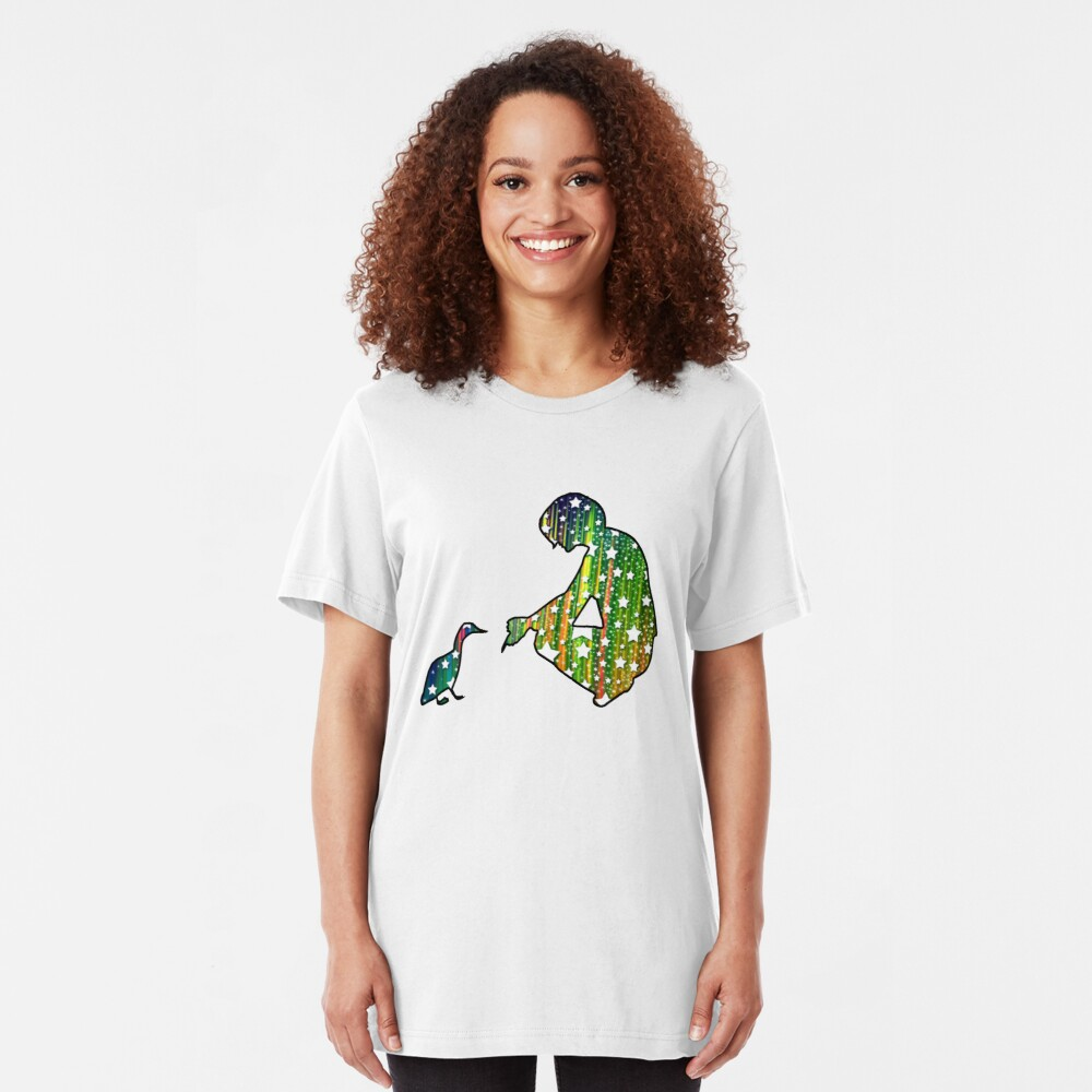Starry Duck Silhouette Slim Fit T-Shirt