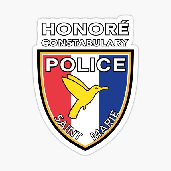 SAINT MARIE POLICE - HONORÉ CONSTABULARY Sticker