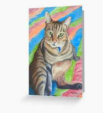 Lupin, King of Cats! Greeting Card
