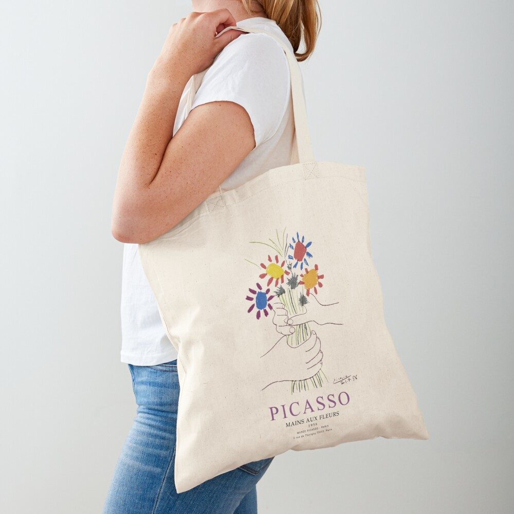 Picasso Exhibition - Mains Aus Fleurs (Hands with Flowers) 1958 Artwork Tote Bag